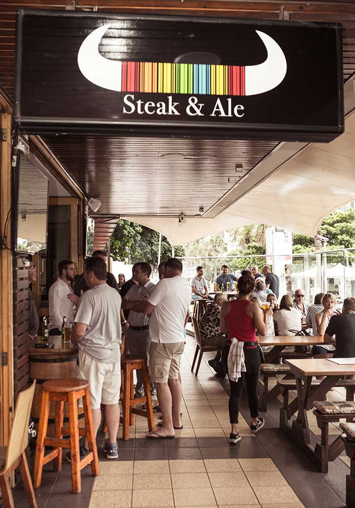 Steak and Ale is one of Durbans most popular eating drinking and socializing venues